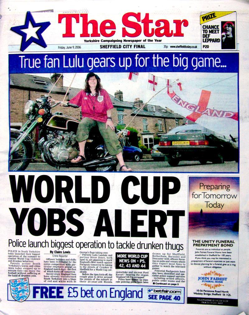 WORLD CUP YOBS ALERT