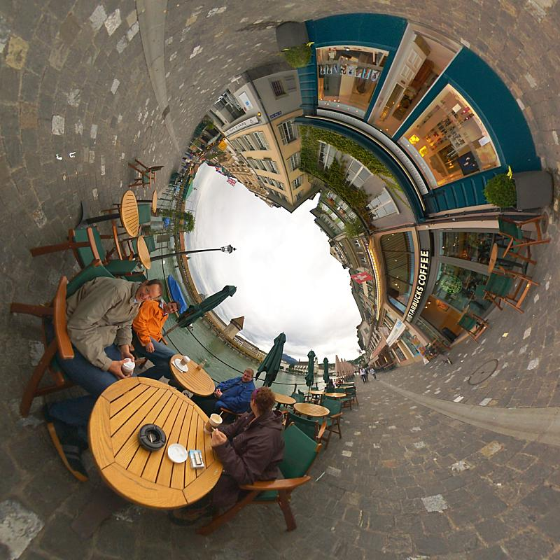 Panoramists Taking A Coffee Break