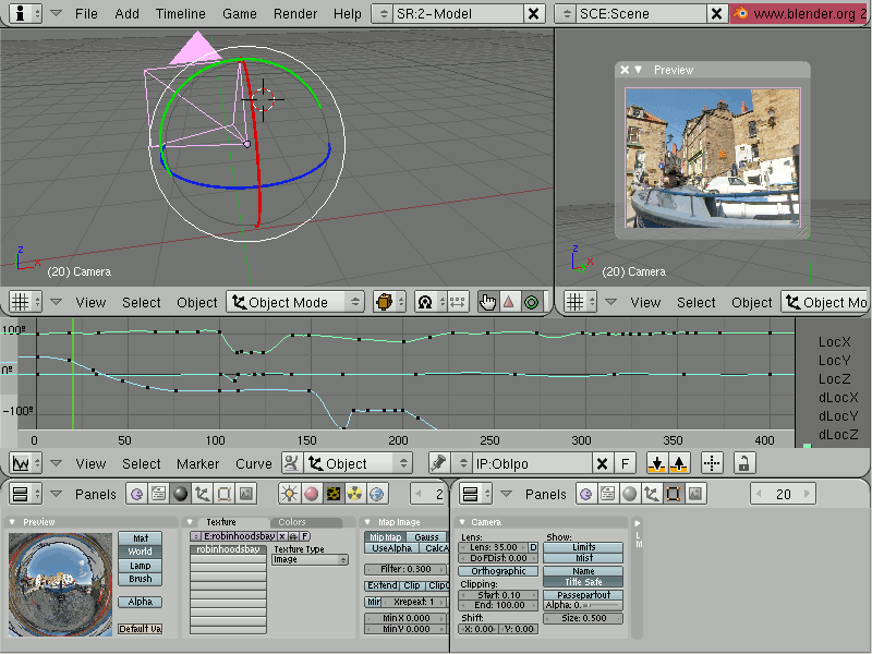 Screenshot of Blender